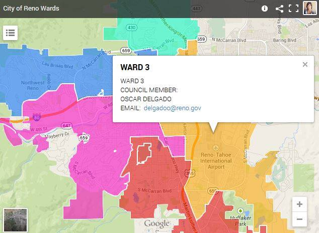 Know Your Ward City Of Reno Blog - Street map of reno nv