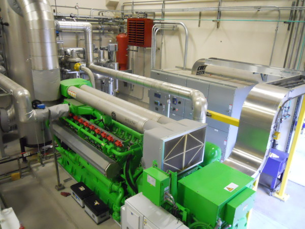 "TMWRF's ""green machine,"" or cogeneration, system provides 35% of TMWRF's energy needs."