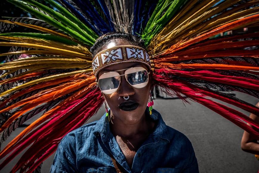 Pride parade participant