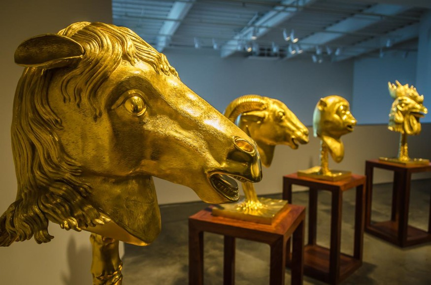 Nevada Art Museum gilded bronze sculptures