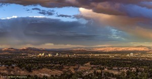 Stormy Reno sunset
