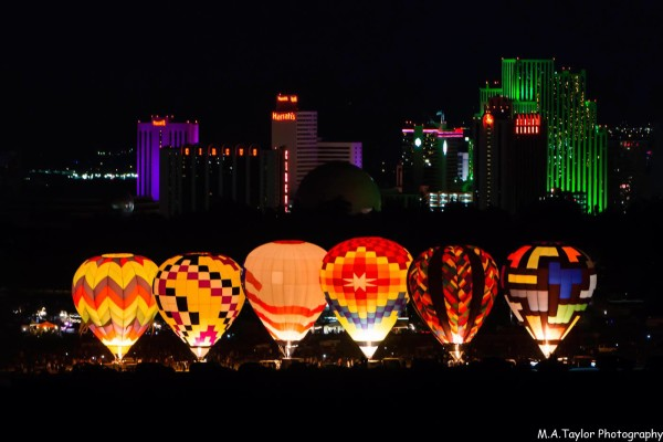 Reno Balloon Race before sunrise