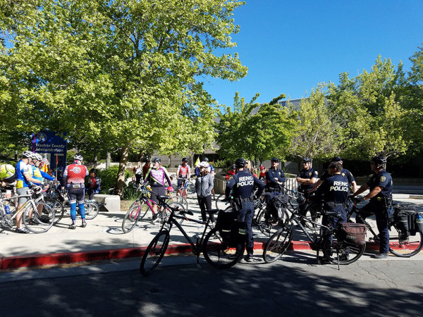 Group of bike riders gearing up to pedal for Mayoral Challenge Ride