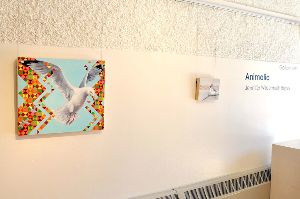 McKinley Art Gallery with two bird pictures hanging on wall