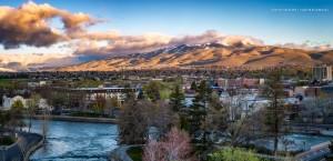 Reno landscape with Peavine Mountain