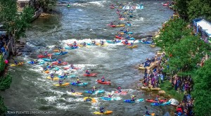 Truckee River with kayakers
