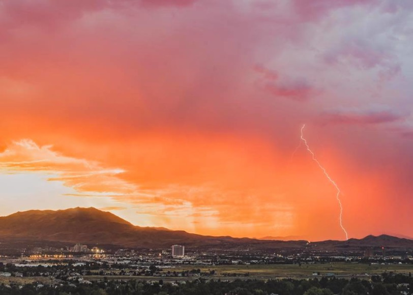 Summer storm in Hidden Valley with lightening strike