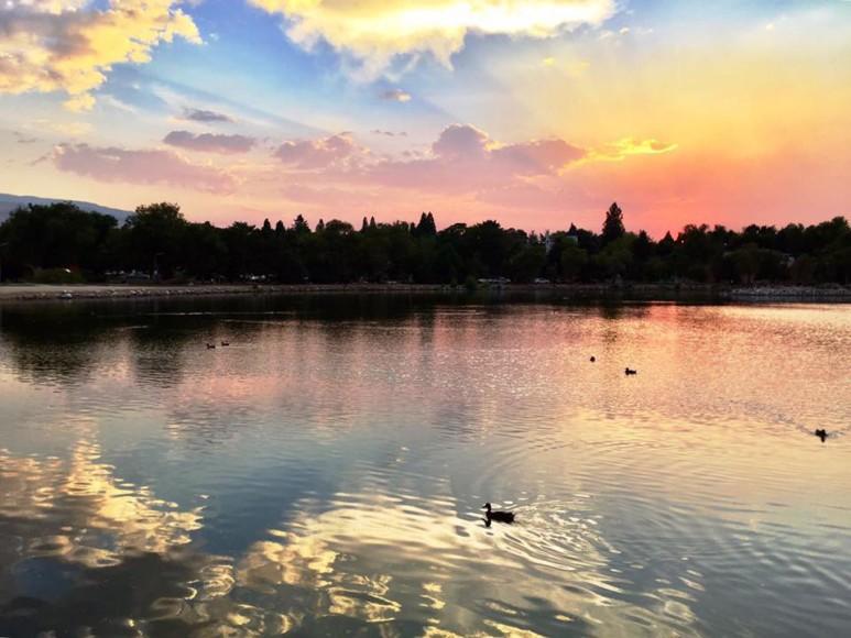 Sunset at Virginia Lake