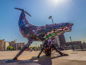 Space Whale Sculpture