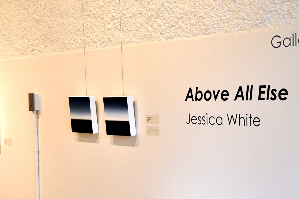 Jessica White images hanging in gallery