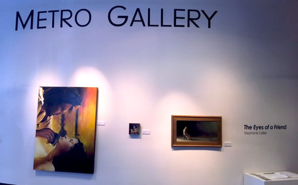 Metro Gallery wall with art displayed