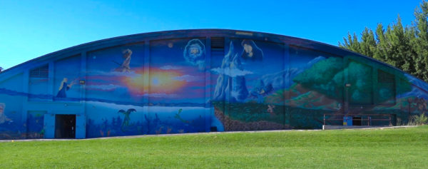 Plumas Park Mural with Greek mythology images